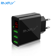 RAXFLY Universal USB Charger Adapter EU/US Smart Charging for phone iphone Samsung Singel Port Max 5V 2.4A Fast Quick chargers(China)