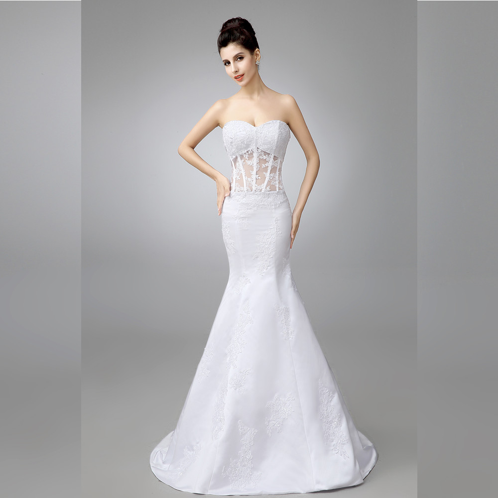 Online get cheap wedding dresses bling bling aliexpress luxury 2016 new sexy bling bling crystals white ivory lace mermaid wedding dress vestidos de noiva bridal gowns wedding gowns ombrellifo Choice Image