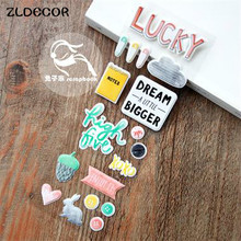 ZLDECOR Enjoy It Self- adhesive Epoxy Sticker for Scrapbooking/ DIY Crafts/ Card Making Decoration