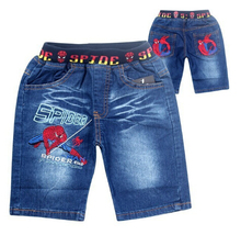 New summer Despicable Me minions & Spiderman boys jeans short cotton kids clothing childrens shorts pants baby cartoon style