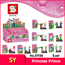 SY SY156 8set/lot Friends Series Mermaid Princess Prince Model Building Set Blocks Bricks toy Compatible Gift - BevleBlocks Store store