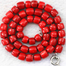 Women Gift word Love Natural red coral 8-10mm newly irregular stone cube abacus rondelle beads diy jewelry necklac(China)