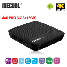 Buy MECOOL M8S PRO Android 7.1 Smart TV Box 2GB DDR4 16GB EMMC FLASH Amlogic S912 64 bit Octa core ARM 2.4G/5G WiFi Set Top Box for $70.11 in AliExpress store