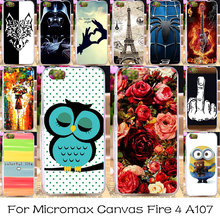 Silicone Phone Case For Micromax Canvas Fire 4 A107 Housing Cover DIY Painted Soft Bag Shell For Micromax A107 Skin Case Cover