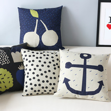 Japan Korea lovely Nordic Pillow s,Fruit navy blue Pillow Cushion , Pillow home decoration sofa cushions