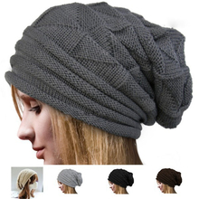 Autumn Winter Warmer Knitted Hats for Mens Women Baggy Beanies Oversize Winter Hat Slouchy Chic Cap Skull