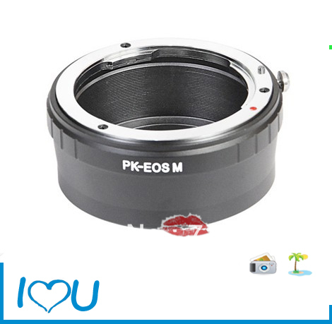 Lens Adapter Pentax PK Mount Lens Canon EOS M Mount EF-M Adapter Mirrorless Camera