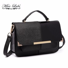 Buy 1 Get 1 at 50% Off Miss Lulu Women Messenger Bags PU Leather Cross Body Bags for Girls Small Satchel Shoulder Bags LT1713