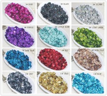 HIGH QUALITY DIY 5MM sequins laser bright color sequins 12 COLORS x 10g TOTAL 120G, can choose color(China)