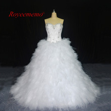 Buy 2017 New Design Wedding Dresses vestidos de novia Bridal gown custom made factory ball gown wholesale price chapel train for $223.20 in AliExpress store