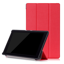 For Amazon New Kindle Fire HD 8 2016 Case Magnetic Stand Smart PU Leather Case+Film+Stylus Pen