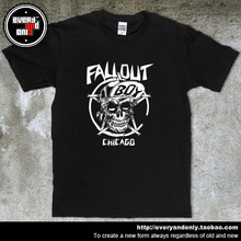 Fall Out Boy Pop Punk Rock Band Skull Cotton Casual T-shirt Tee T Clothing Alternative rock pop