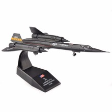 1/144 Scale Diecast Aircraft Plane Model Toys for Children Lockheed YF-12 Wikipedia Blackbird Collection for Kids Gift(China)