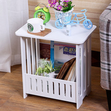 Modern Coffee Table European Simple Living Room Small Table Bedside Cabinet Storage Rack Wood Plastic White Coffee Table(China)