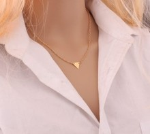 Fashion Korea simple triangle pendant necklace ladies jewelry accessories wholesale cheap