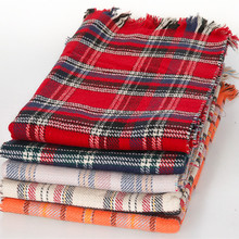 Shawls And Scarves Duplex Tartan Blanket Scarf Plaid Winter Scarf Women High Quality Feminino Imitation Cashmere Tassel WJ0091