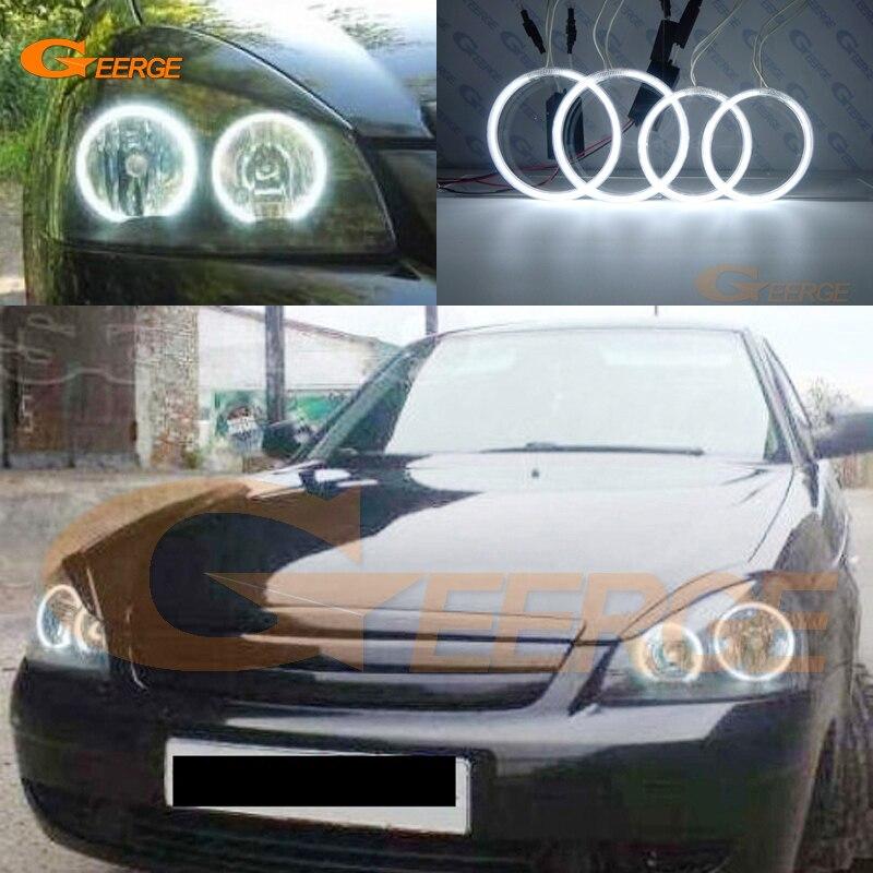 For Lada Priora VAZ 2170 2171 2172 Excellent Angel Eyes Ultra bright headlight illumination CCFL Angel Eyes kit Halo Ring<br>