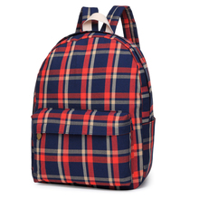 new fashion casual stylish lattice backpacks popular trendy college student backpack for school(China)