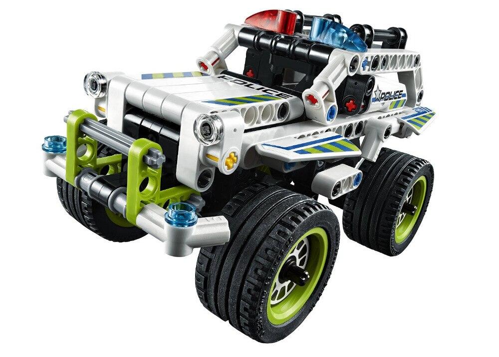 2018 Classic DIY MOC Technic Police Interceptor Building Blocks Sets for Kids Model Toys Compatible Lepine Education Toy<br>