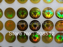 Gold or silver unremovable counterfeit hologram sticker warranty seal sticker security sticker made with custom logo(China)