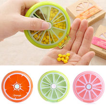 7 Day Portable Rotation Weekly Round Pillbox Dispenser Organisers Tablets Holder HTY07(China)