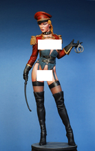 Unpainted Kit  1/ 9 200mm pretty police girl 200mm  Historical WWII Figure Resin  Kit Free Shipping