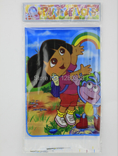Lovely Sapiential Dora Theme Party Table Cloth Mat Popular Baby Girl Birthday Party Favour PE Table Decoration Cover Supplies