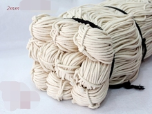 2/2.5 / 3/4 / 5mm Cotton Rope Sash Cord Twine Washing Clothes Natural White Thong String Twine Jewellery Making Thread 100 Meter(China)