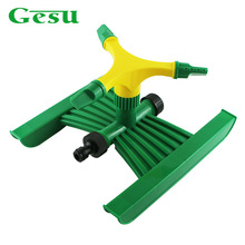Gesu Automatic Spinning Sprinkler Plastic 3 Arms with H Shaped Base 360 Degree Garden Water Spray Three Outlet Sprinklers 3101PB(China)