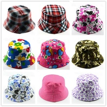 Moeble Kids Summer Hat Bucket Style Printing Sun Hat Accessories For Girls Boys Children Bucket Cap Panama Reversible 1pc H391