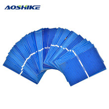 Aoshike 100Pcs Solar Panel Solar Cell 0.5V 0.27W Color Crystal Module DIY Solar Battery Charger 52x31.2MM Power Bank China