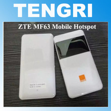 Original Unlocked ZTE MF63 21Mbps Mobile WiFi Hotspot Portable 3G wireless router HSPA+ 2100/1900/850(900)MHz