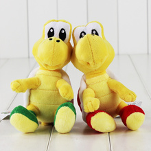 16cm Super Mario Plush Toy Koopa Troopas Red Green Tortoise Stuffed Animal Doll for Children
