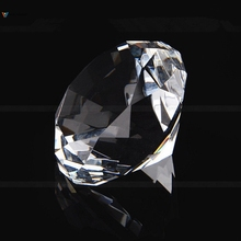 40mm Clear Crystal Diamond Cut Glass Jewelry Paperweight Wedding Glass Diamond Pisapapeles Home Decoration Accessories
