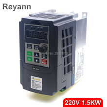 1500W 1.5KW 220V single phase input and 220v 3 phase output mini frequency inverter for mini ac motor drive, frequency converter(China)