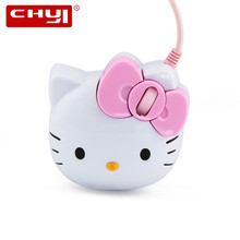 Hot Sale Design Kitty Wired Optical Mouse Pink Hello Kitty Gaming Mouse Mause For Girl Gift Laptop Notebook Computer Mice Mouse(China)