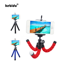 kebidu Hot Mini Flexible Sponge Octopus Tripod for iPhone Samsung Xiaomi Huawei Mobile Phone Smartphone Tripod for Gopro Camera(China)