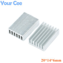 10 pcs 20*14*6mm Radiator Heatsink Cooler Cooling Fin Aluminum Heat Sink for Chip, LED, Power IC Transistor Module PBC 20x14x6mm(China)