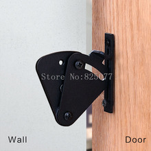 1PCS New Style Black Pull Door Sliding Barn Door Gate Lock Wood Door Latch ED47(China)