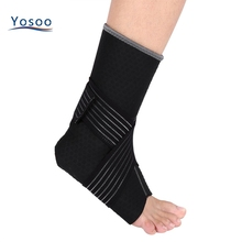 1PCS Unisex Elastic Ankle Brace Support wrap Breathable Stabilizer Strap Provides Ankle pad strap basketball Foot protector