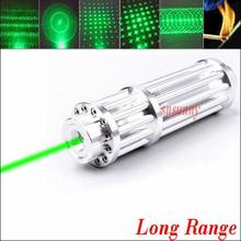 NEW green laser pointers 10000mw 10w Focus Burning 532nm Lazer Beam Military Green Lasers burn black match pop balloon+5 caps
