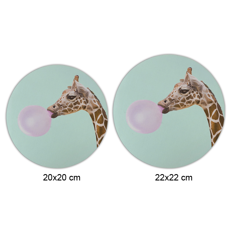 Funny Giraffe Mouse Pad Round Mat (2)