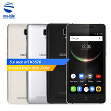 Original Doogee X10 3G Smartphone 5.0 inch Android 6.0 MTK6570 Dual Core Mobilephone 1.0GHz 512MB RAM 8GB ROM 3360mAh Cell Phone(China)