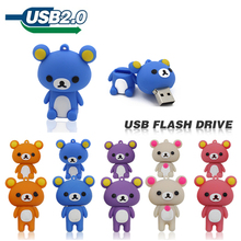 top quality Rilakkuma cute bear U Disk 2GB 4GB 8GB 32GB 64GB usb Flash Drive memory stick pen drive pendrive flash card