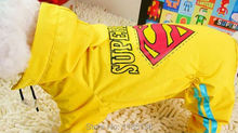 High Quality Fashion Dog Raincoat Clothing Puppy Superman Waterproof Dog Clothes Yellow D095(China)