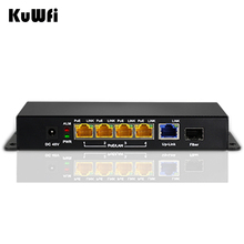 48V PoE Switch 5 Ports 10/100/1000M Gigabit Switch SFP Fiber Injector IEEE802.3af/at PD Equipment for Wireless AP/IP Camera(China)