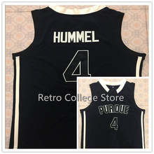 Purdue Boilermakers College #4 Robbie Hummel Throwback Basketball Jersey, Authentic Stitched Logos Jersey #33 Moore