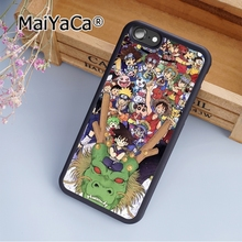 MaiYaCa Dragon Ball Naruto One Piece Soft Rubber cell phone Case Cover For iPhone 7 phone cover shell(China)