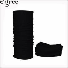 C.gree 2017 Multifunctional Seamless Bandana Custom Black Headbands Solid Black Bandana Scarf Neck Tube Scarf Bufanda Magic 74(China)