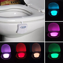 8 Colors LED Toilet Light Motion Sensor Activated Bathroom Night Lamps Toilet Bowl Light Creative Night Lights P28